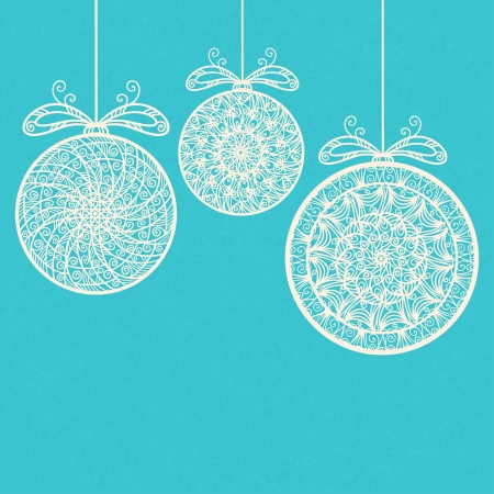 Vintage holiday New Year and Christmas background with Christmas balls - vector Stock Vector - 22199326