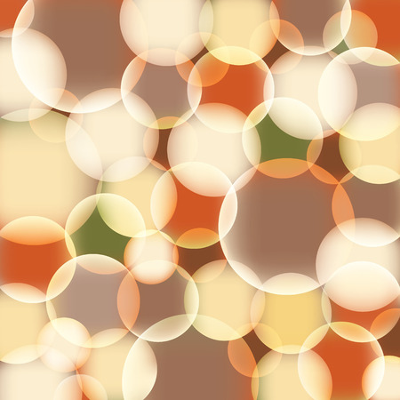 Orange abstract background with bubbles - vector Vector