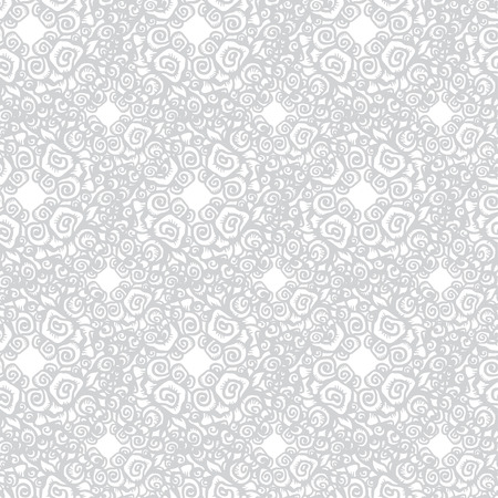 White floral seamless pattern - vector Vector