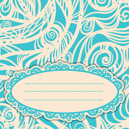 Vintage card with space for text - vector Vector