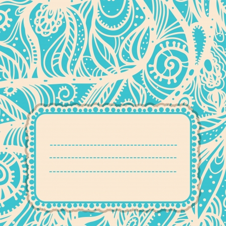 Vintage card with space for text - vector Stock Vector - 22199409