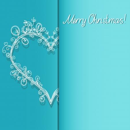 Fond de vacances avec le coeur et le texte Joyeux Noël - vecteur Banque d'images - 22297221