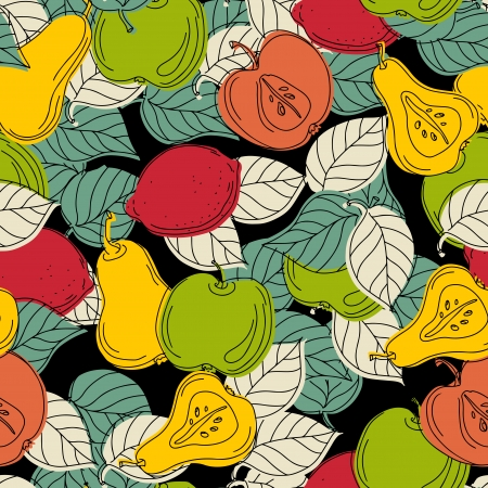 Seamless pattern with fruits - vector  Vector
