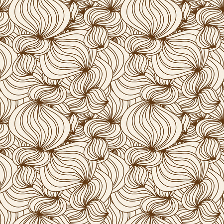 Vintage seamless pattern with waves - vector Vector