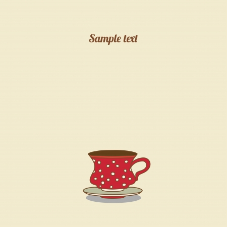 Vintage tea card - vector Vector