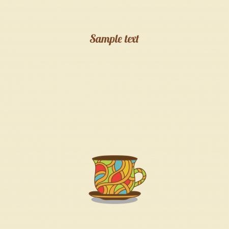 Vintage tea card - vector Vector
