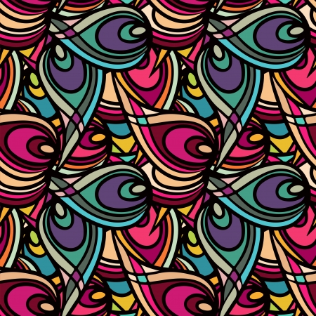 Abstract ethnic seamless pattern - vector Vector