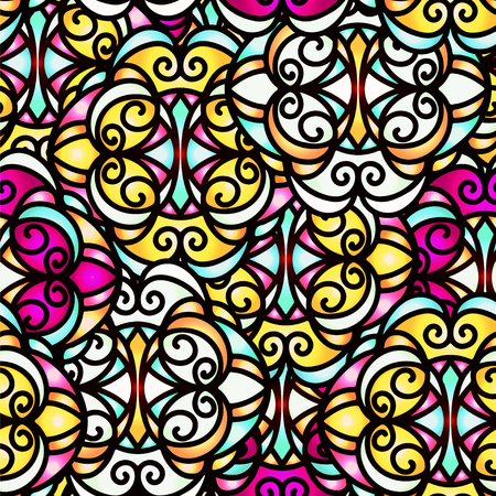 Colorful abstract seamless pattern - vector Vector