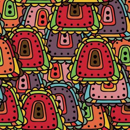 Colorful doodle abstract seamless pattern Vector