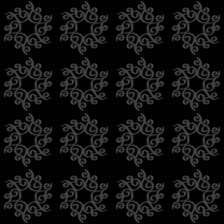 Abstract seamless pattern in black and gray - vector  Vector