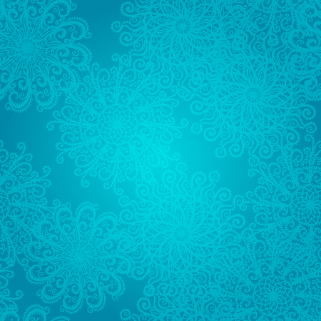 Holiday winter seamless pattern with snowflakes - vector  Vector