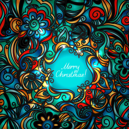 Colorful Merry Christmas background - vector Stock Vector - 23119456