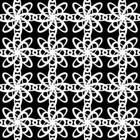 Abstract seamless pattern in black and white - vector  Vector