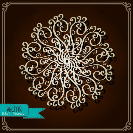 Vintage background with snowflake - vector Vector
