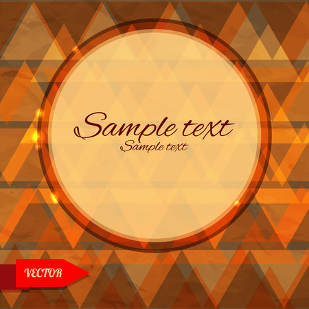 Bright geometric background with triangles and frame - vector Vector
