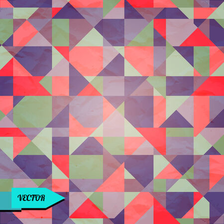 Vintage abstract geometric background - vector Vector