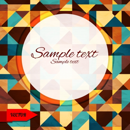 Abstract geometric background with triangles and frame - vector Vector