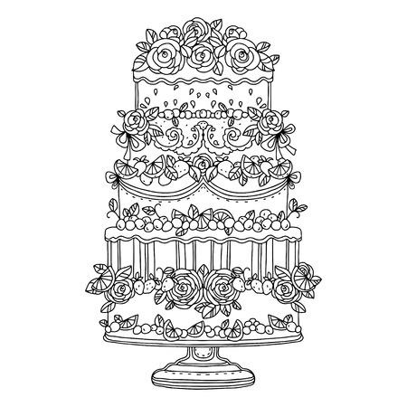 torte: Holiday cake isolated - vector