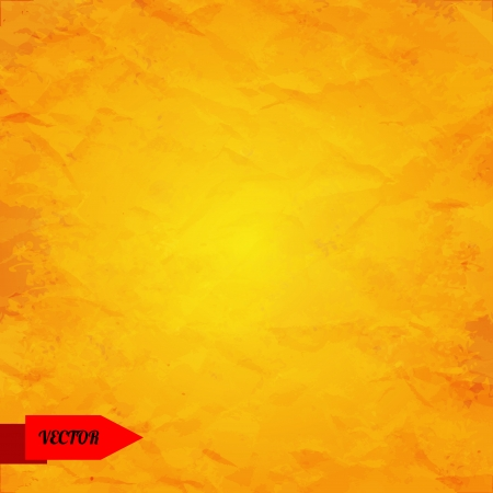 Yellow grunge background with place for text - vector Vector