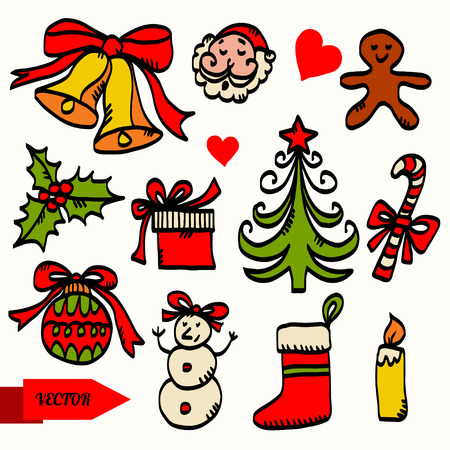 Holiday Christmas set icon