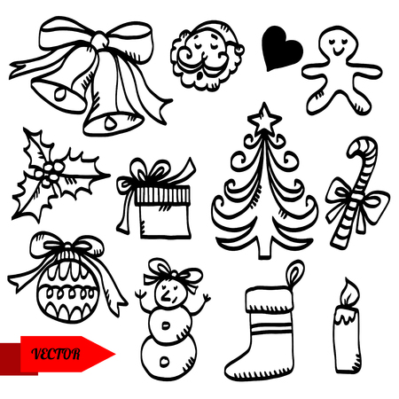 Holiday Christmas set icon  Vector