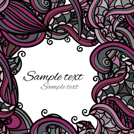 Colorful ethnic background with floral pattern   Vector