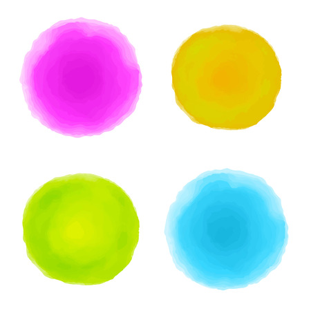 Abstract watercolor set spots isolated on white background  Hand painting - vector