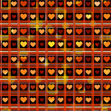 Holiday Valentines day seamless pattern with hearts - vector  Vector