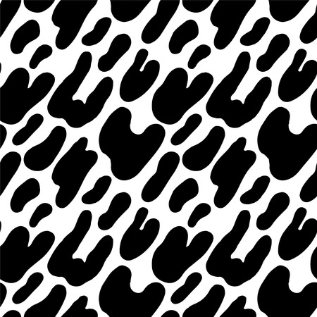 Abstract print animal seamless pattern in black and white - vector  Vector
