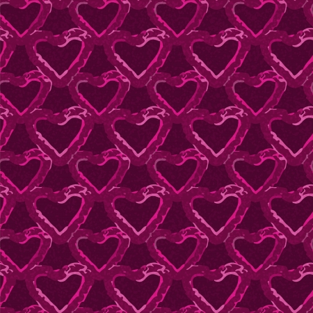 Holiday Valentines day seamless pattern with hearts Vector