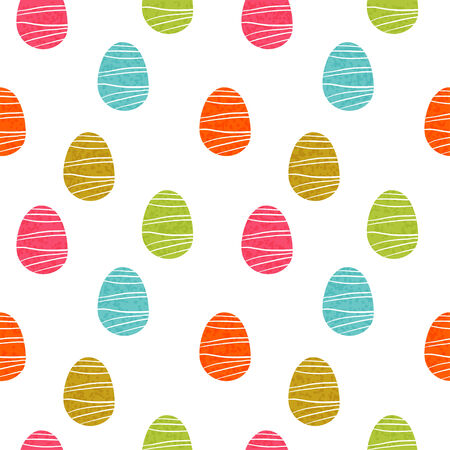 easter background: Easter eggs seamless pattern  Holiday background texture - vector Illustration