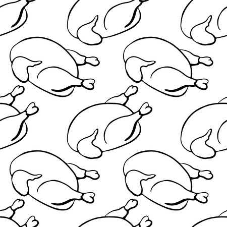 Seamless pattern with chickens Vector