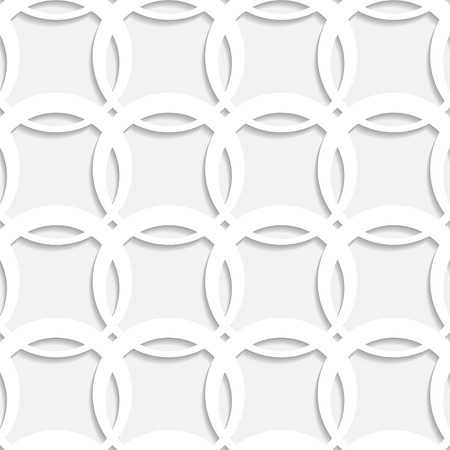 Abstract white geometric seamless pattern with circles - vector  Vector