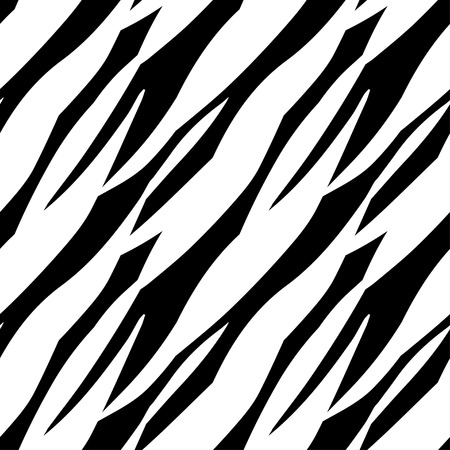 Abstracte Druk Animal Monochroom Naadloze patroon in zwart en wit gestreepte Tijger