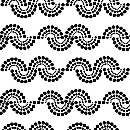 Abstract print dots monochrome seamless pattern - vector Vector
