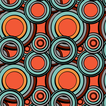 Abstract geometric seamless pattern with circles - vector  Vector