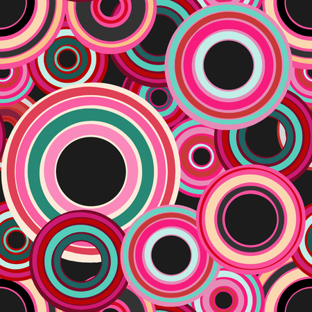 Abstract geometric seamless pattern with colorful circles - vector  Vector