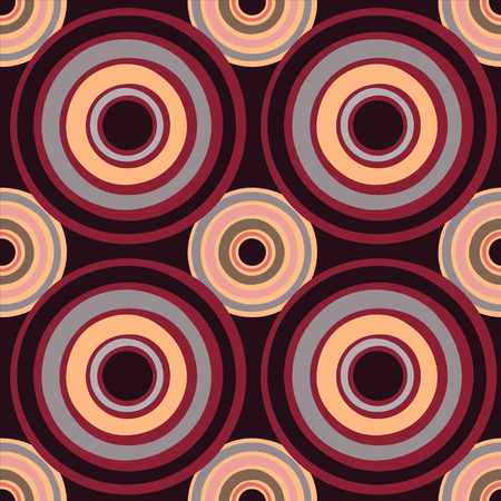 Abstract geometric seamless pattern with circles - vector