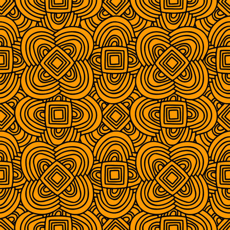 Ethnic abstract seamless pattern  Endless print silhouette texture  Vector