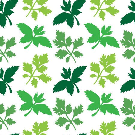 Seamless pattern with leafs  Endless print silhouette texture - vector  Vector