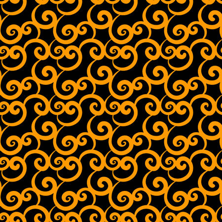 Abstract seamless pattern with gold wave  Endless print silhouette texture  Vector