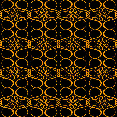 Abstract seamless pattern in black and gold  Wallpaper  Endless print texture  Modern Style - vector  Vector