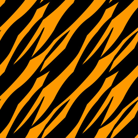 Abstract print animal seamless pattern. Tiger stripes skin  Vettoriali