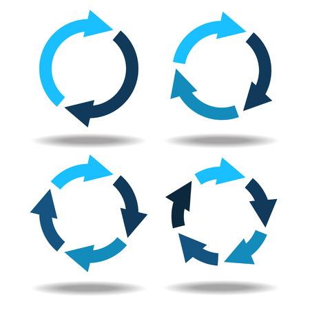 Set icons circle arrows - vector Vectores