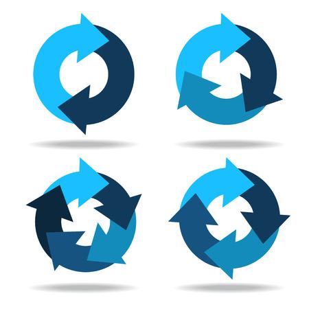 Set icons circle arrows - vector Stock Illustratie