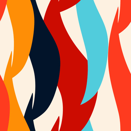 constructivism: Modern abstract art seamless pattern. Rainbow geometric background. Paint stains. Spray. Stripes. Constructivism shapes. Graffiti - vector