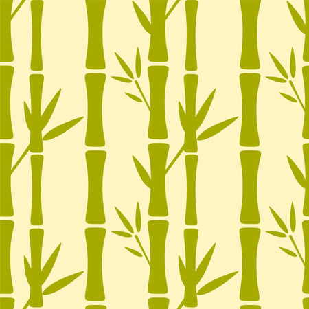 bamboo forest: Seamless pattern with silhouettes bamboo trees and leaves. Nature background. Endless print texture. Forest. Retro. Vintage style - vector