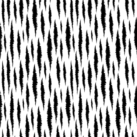 zebra skin: Abstract print animals seamless pattern. Tiger stripes. Distressed background texture in black and white. Monochrome - vector