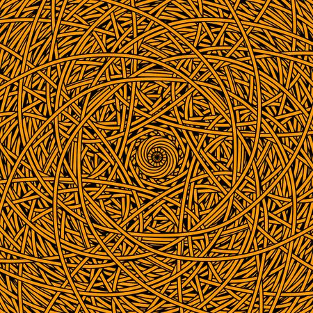 Abstract geometrische gestreepte circulaire achtergrond in zwart en goud - vector Stock Illustratie