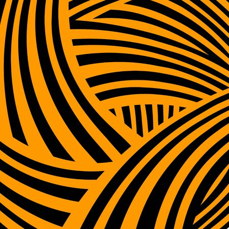 elegant backgrounds: Abstract geometric striped background in black and orange - vector